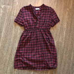 Ces Femme Red Flannel Dress